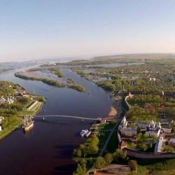 Новгородский Кремль с высоты птичьего полета