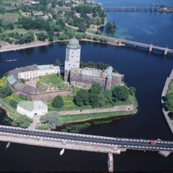 Выборгский замок с высоты